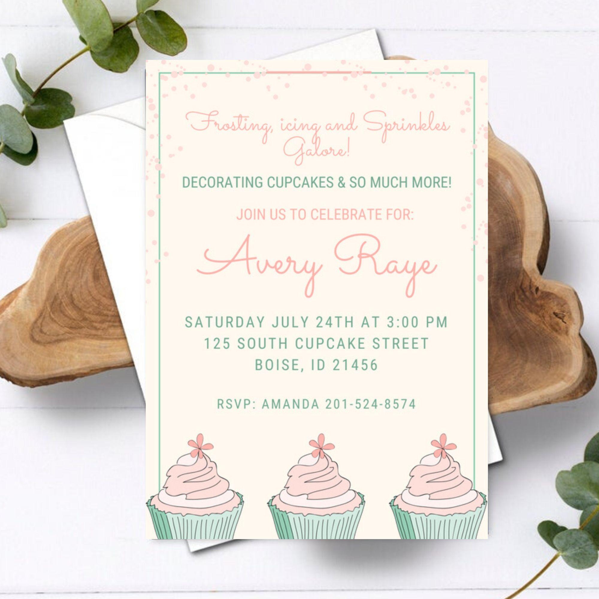 FREE PRINTABLE Cupcake War & Dessert Cupcake Party