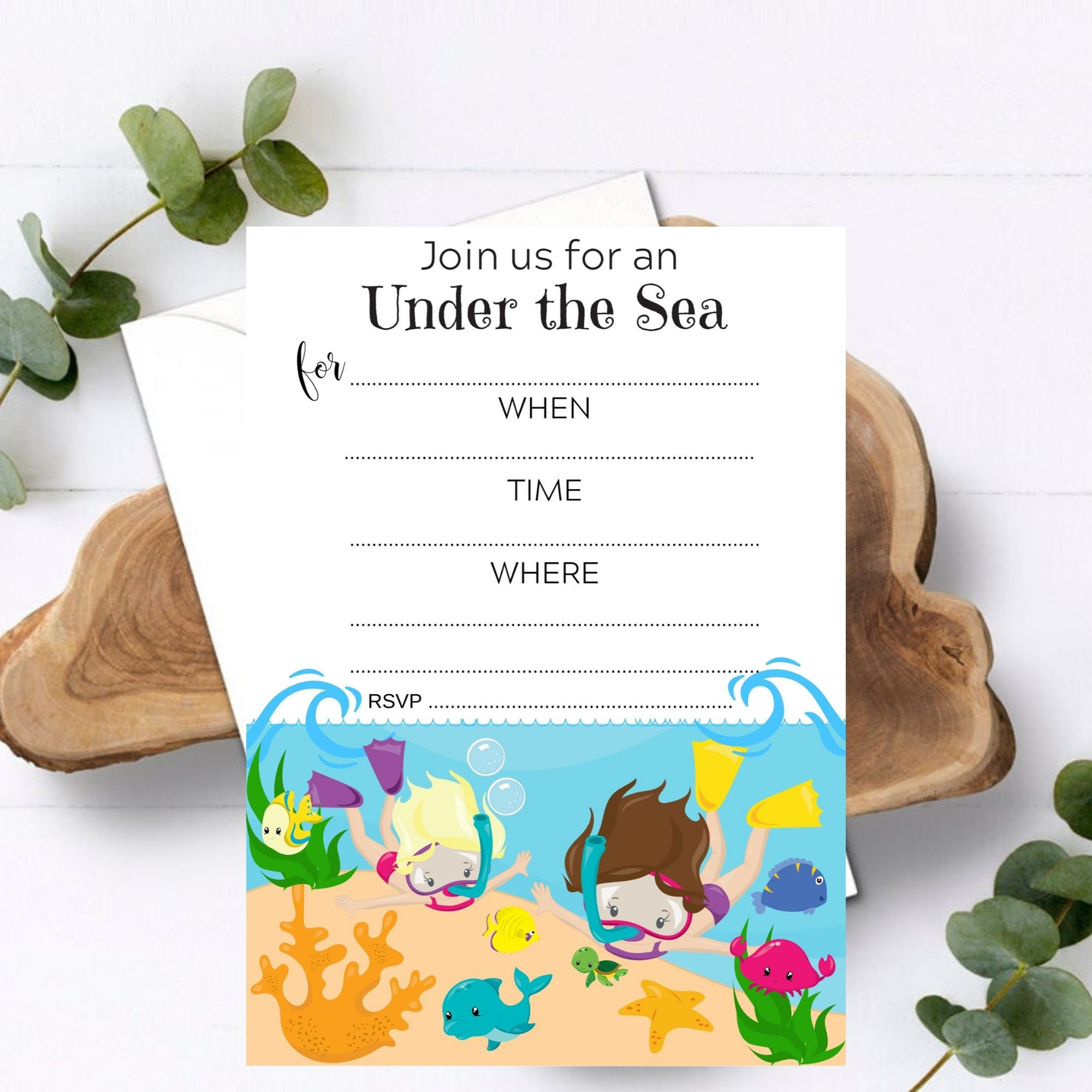 FREE PRINTABLES Under the Sea Birthday Party Printables!