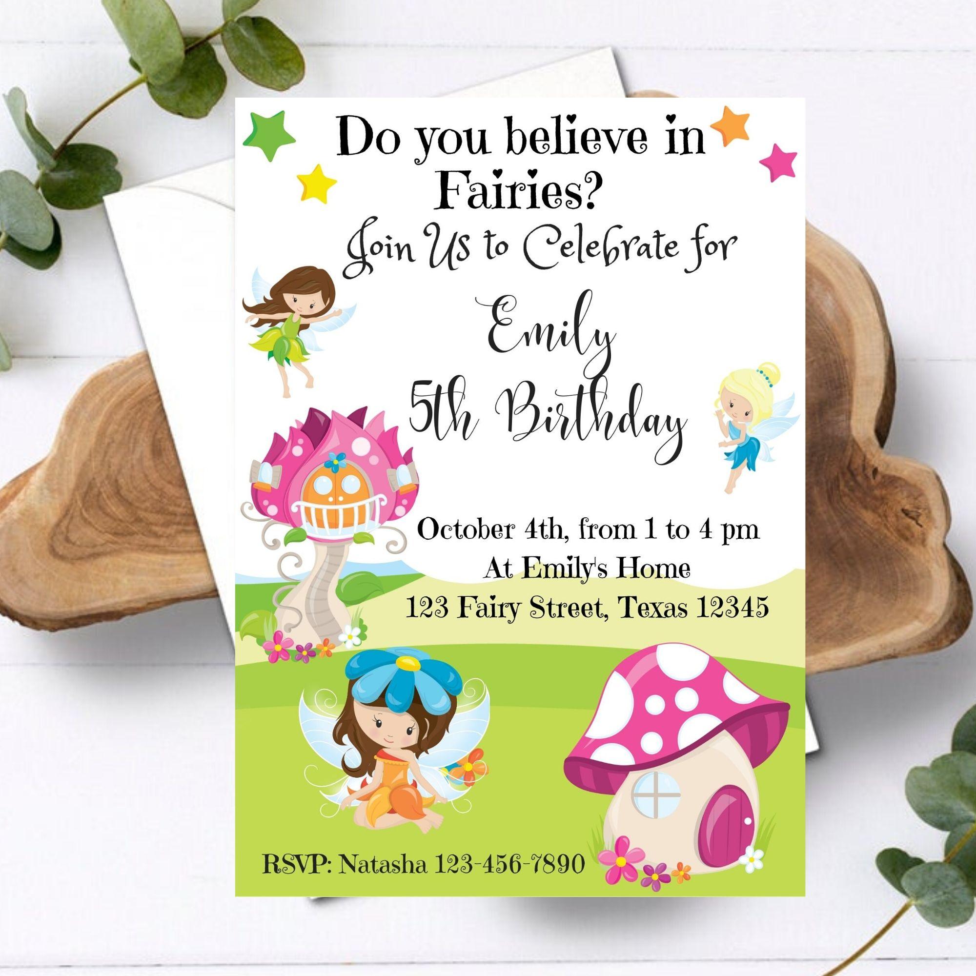 FREE PRINTABLE – Fairies Birthday Party