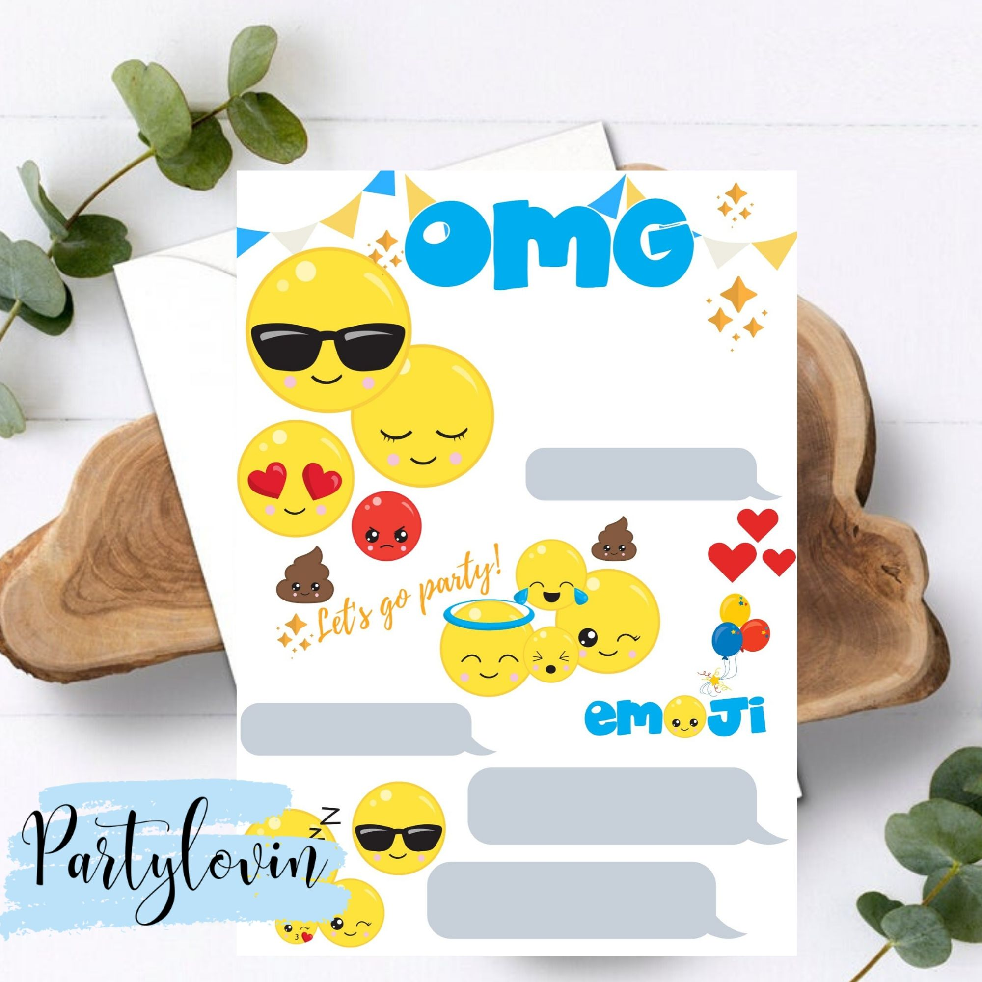 FREE PRINTABLE Emoji Birthday Party