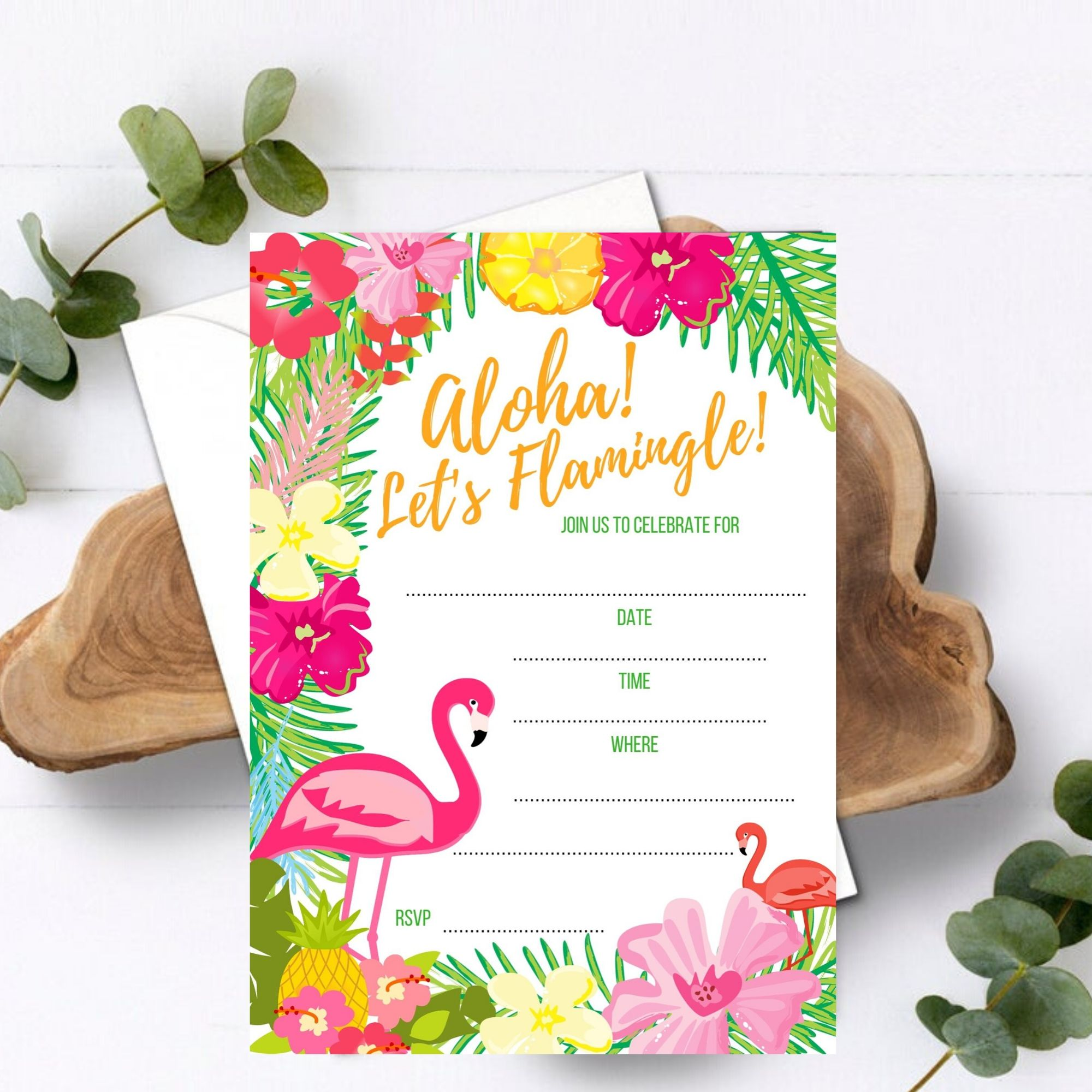 FREE PRINTABLE Flamingle Birthday Party