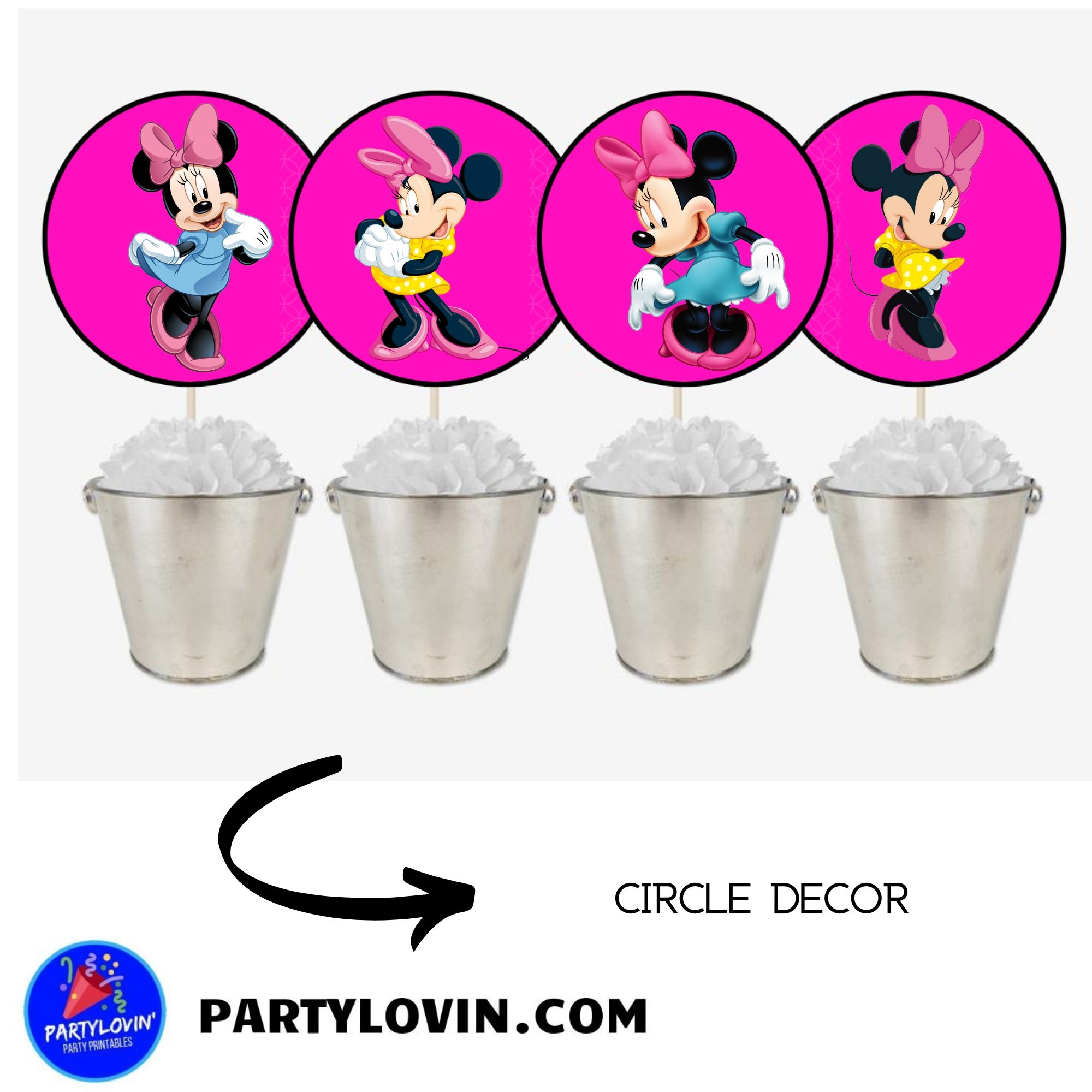 FREE PRINTABLE Minnie Mouse Party Circles