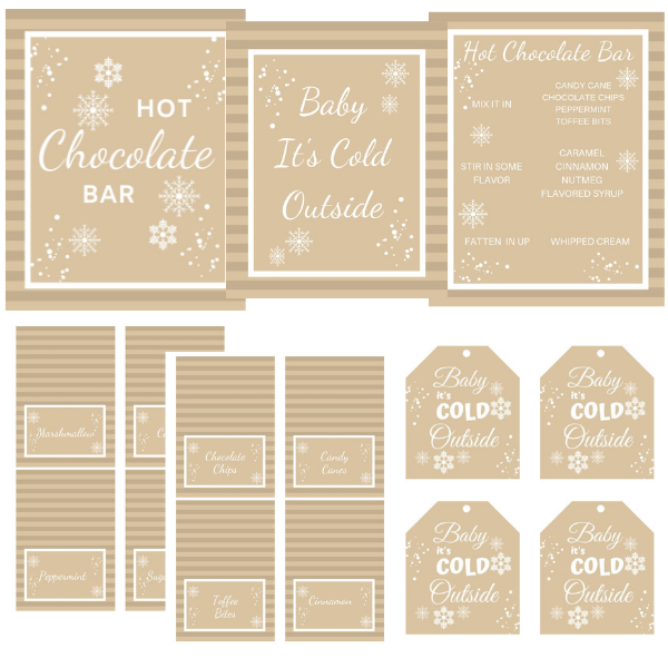 HOT CHOCOLATE FOOD BAR STATION PACKAGE