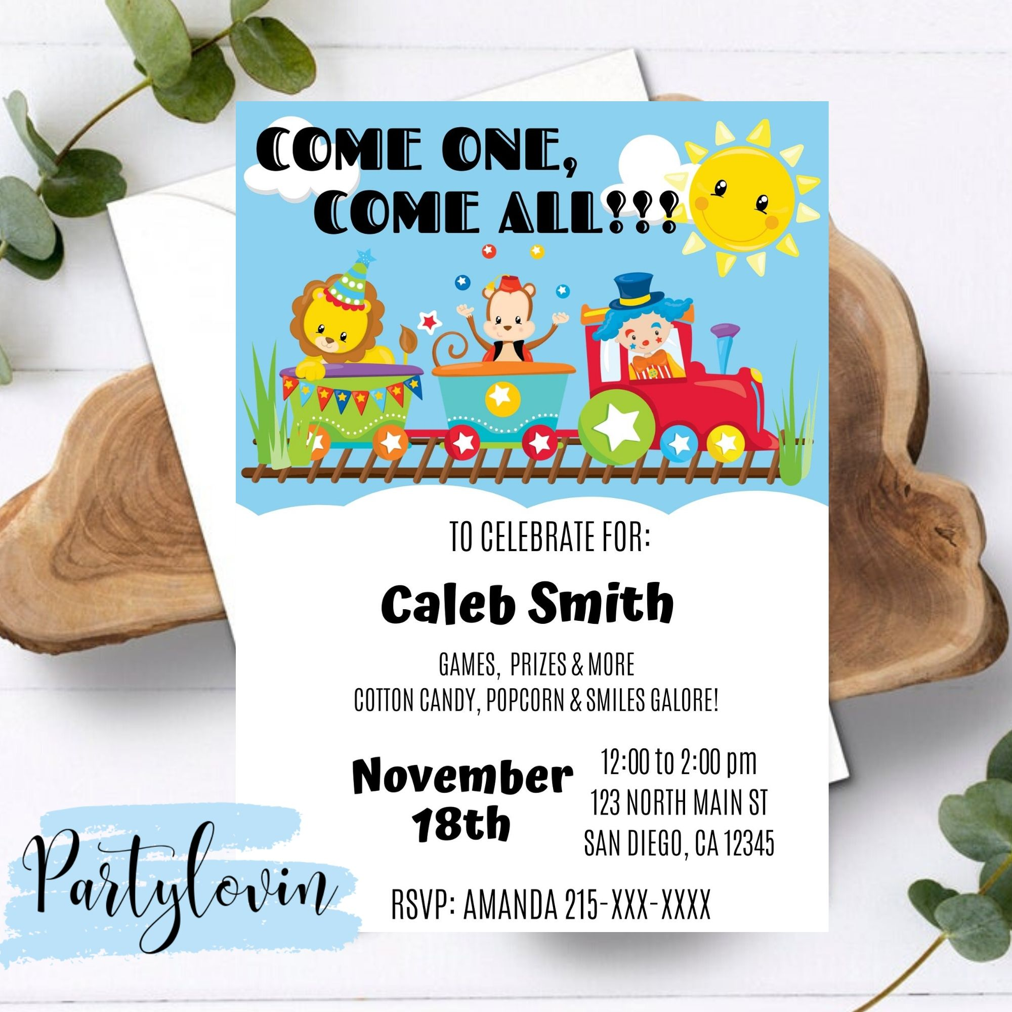 FREE PRINTABLE Come one, come all Birthday Party