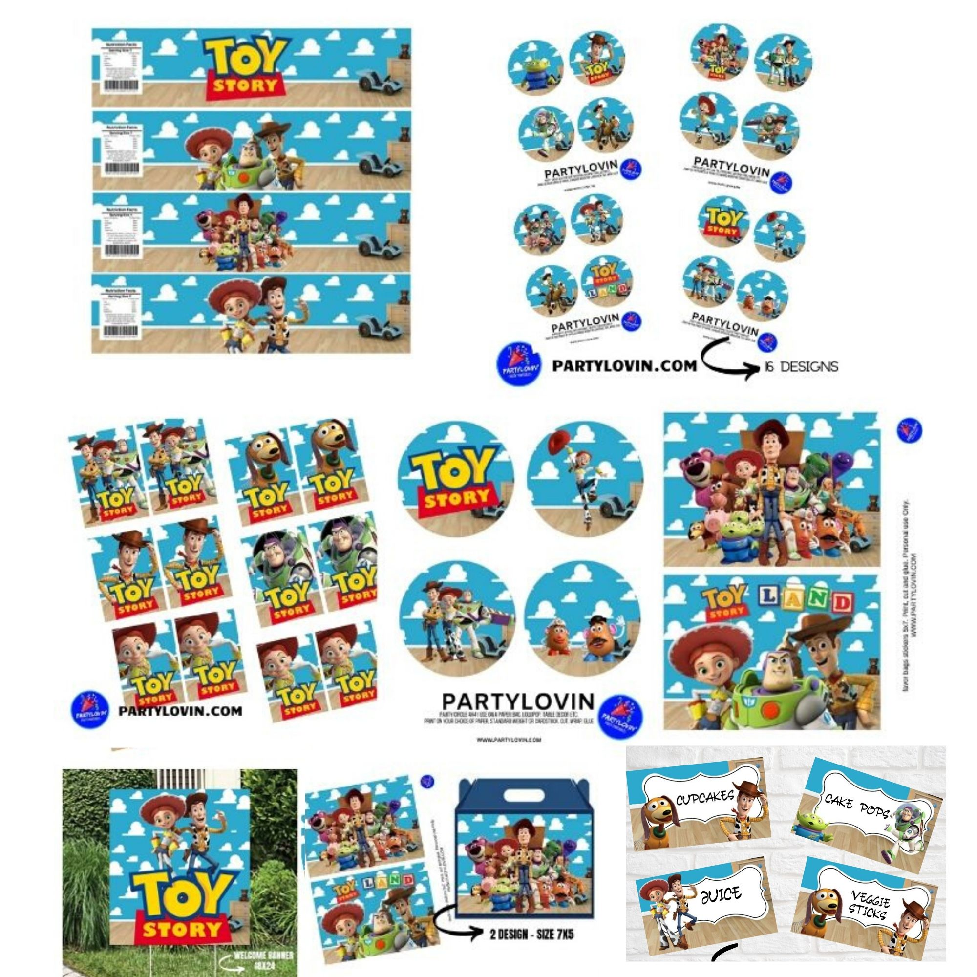 Toy Story Birthday Party Package