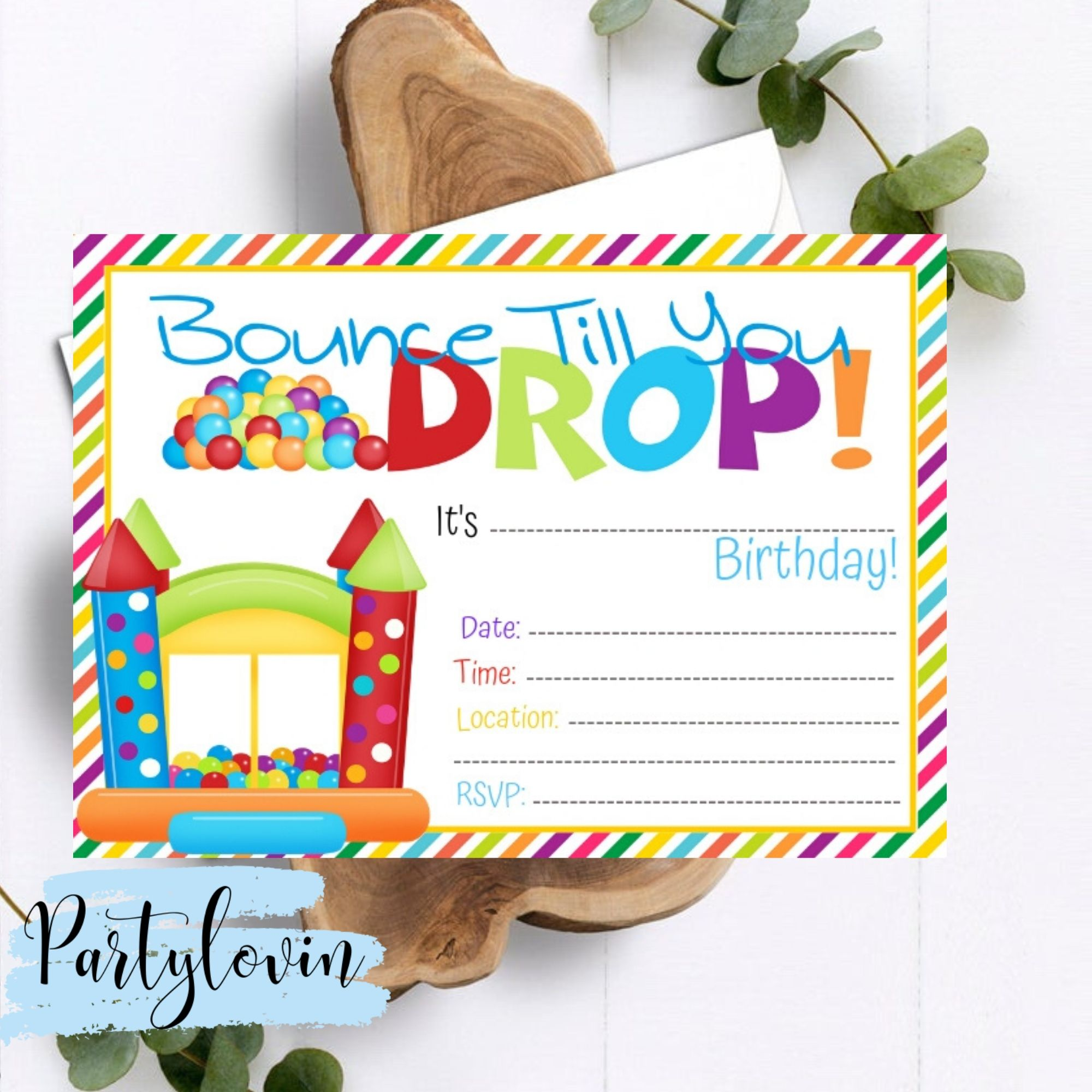 FREE PRINTABLE Bounce Till you Drop Birthday Party