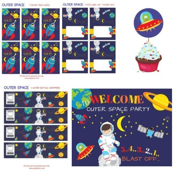 FREE PRINTABLE OUTER SPACE BIRTHDAY PARTY