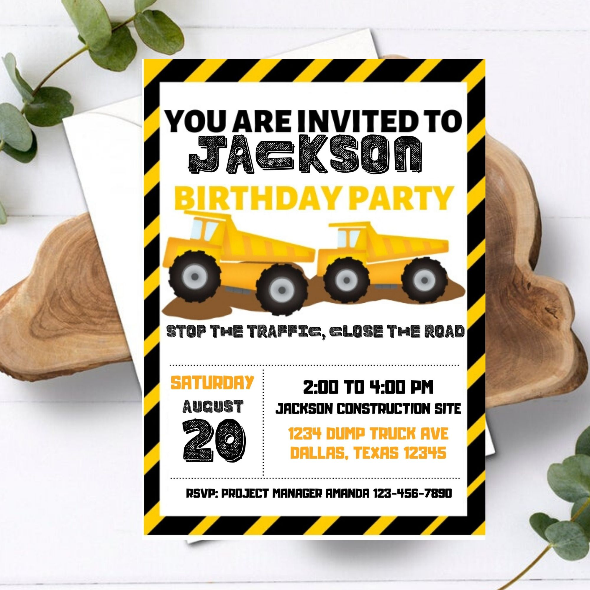 FREE PRINTABLE Construction Birthday Party Printable