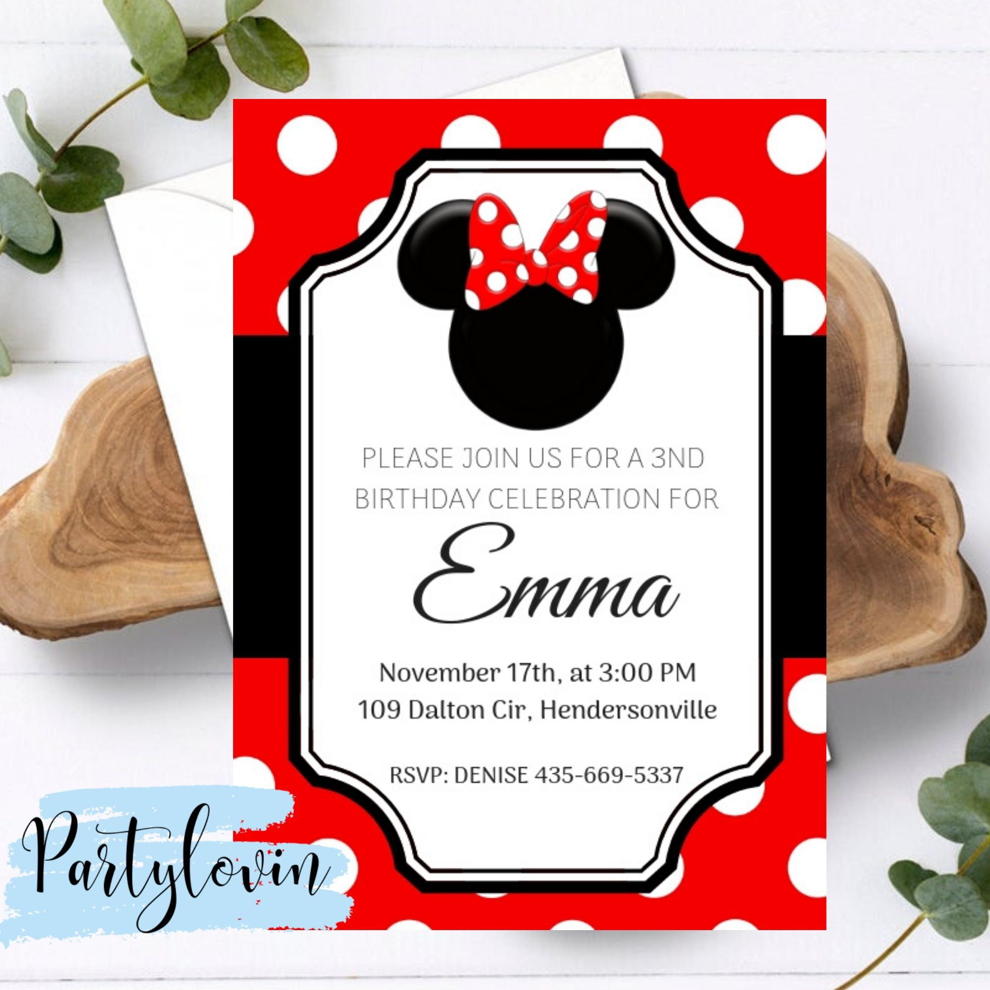 FREE PRINTABLE Minnie Mouse Birthday Party