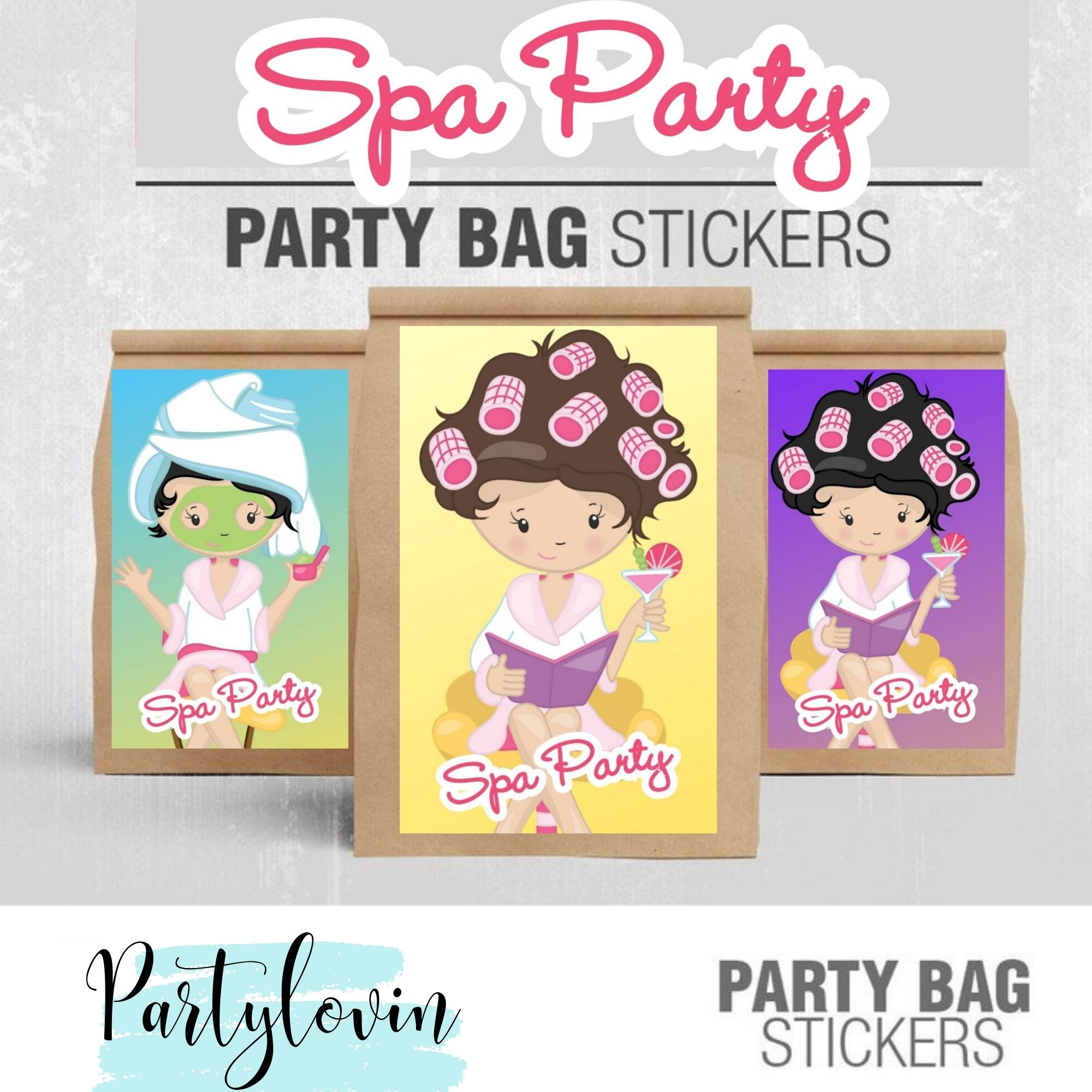 Manicures, Pedicures and Facial too! Spa Party Birthday Printable