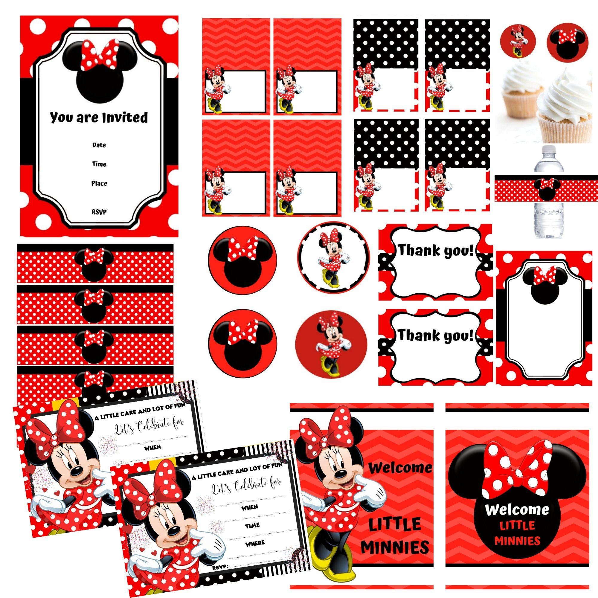 FREE PRINTABLE Minnie Mouse Birthday Party