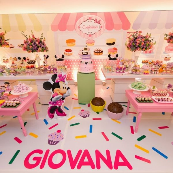 Minnie Mouse Bakery Birthday Party