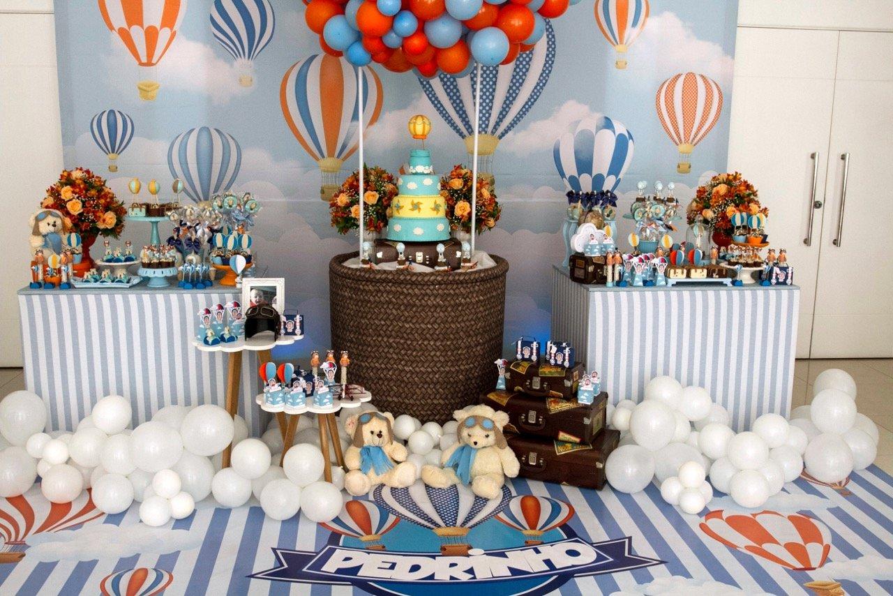 Teddy Bear + Hot Air Balloon Birthday Party